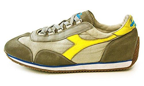 sneakers uomo diadora heritage euipe sw dirty colore grigio giallo gris