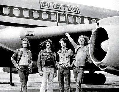 "LED ZEPPELIN AIRPLANE STARSHIP POSTER PRINT ROCK METAL MUSIC GROUP 24""x36"" NEW"