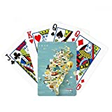 beatChong Travel Taiwan Area China Poker Playing Card Tabletop Board Game Gift