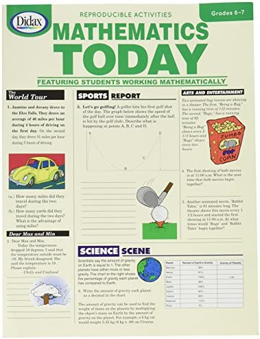 Didax Educational Resources Mathematics Today, Gr. 6-7