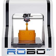 """ROBO 3D R1 Plus 10x9x8-"""" ABS/PLA 3D Printer, White (A1-0002-000)"""