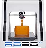 ROBO 3D R1 Plus 10x9x8-Inch ABS/PLA 3D Printer, White (A1-0002-000)