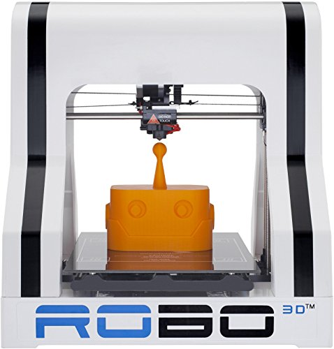 ROBO 3D R1 Plus 10x9x8-Inch ABS/PLA 3D Printer, White