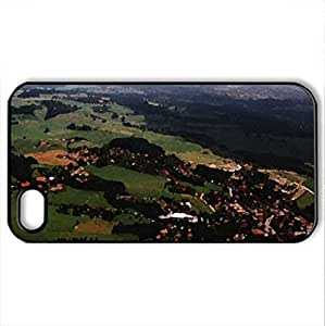 Airview Amtzell - Case Cover for iPhone 4 and 4s (Watercolor style, Black)