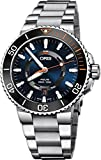Oris Aquis Date STAGHORN RESTORATION LIMITED EDITION Mens Stainless Steel Automatic Diver Watch - 43mm Blue Face Analog Swiss Luxury Waterproof Dive Watch For Men 01 735 7734 4185-Set MB