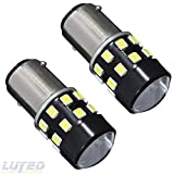 Used Motorhomes Best Deals - LUYED 2 x 600Lumens Super Bright Low Power 1156 2835 24-EX Chipsets Lens 1156 1141 1003 7506 LED Bulbs Used For Back Up Reverse Lights,Brake Lights,Tail Lights,Rv lights,Xenon White