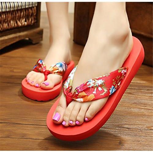 698036bf2 Mejor FLYRCX señoras de moda de verano piscina zapatillas pie clip flip  flops Bohemia playa antideslizante