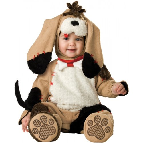 Puppy Dog Costume For Baby (InCharacter Costumes Baby's Precious Puppy Costume, Tan/Black/White, 6-12 Months)