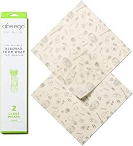 Abeego, The Original Beeswax Food Storage Wrap - Set of Two 13