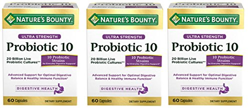 Nature's Bounty Ultra Probiotic 10, 60 Count – 3 Pack For Sale
