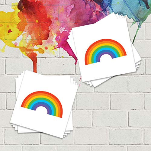 Rainbow Pride Temporary Tattoos (10 Pack) | Skin Safe | MADE IN THE USA| Removable