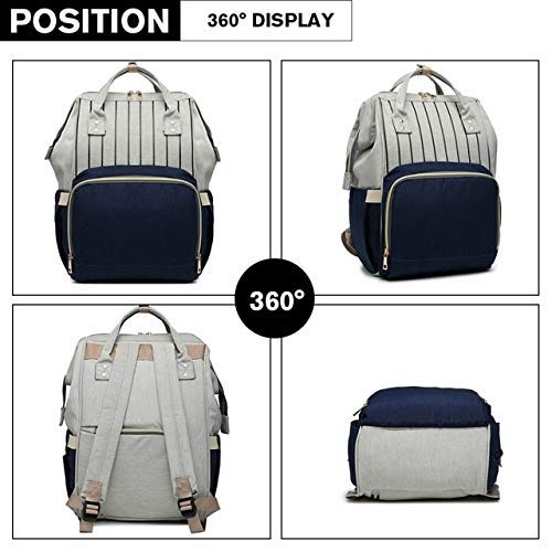 Foolzy Diaper Bag Backpack Multi-Function Large Capacity Waterproof Insulation Travel Bag, Baby Nappy Storage Bag, Mother Bag