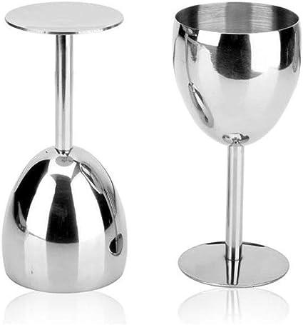Verres /à champagne verre /à vin Silver verres /à champagne en acier inoxydable verres /à champagne incassables pour verres m/énagers