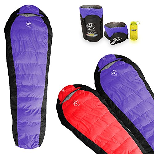 Outdoor Vitals Atlas 15°F & 30°F Lightweight Down Sleeping Bag with Compression Sack &