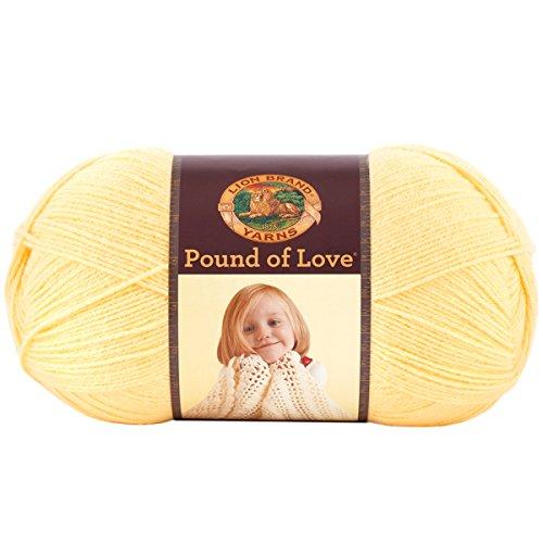 (Lion Brand Yarn Pound of Love Honey Bee, 1,020 yd/932 m,)