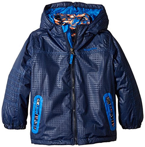 Rugged Bear Little Boys' Systems Coat with Quilted Jacket, Navy,4 (Quilted Boys Jacket)
