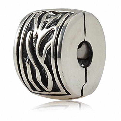 Authentic Pandora Jewellery - Soulbeads Authentic Sterling Silver Charm Clip Lock Stopper Beads for Charms Bracelet