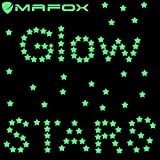 MAFOX New 2017 Glow in the Dark Stars - 190 Stars - Wall Stickers , Long Lasting , Self-Adhesive Stars - Create an Unbelievable Starry Sky for your Child
