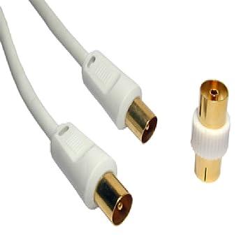 Mundo de datos 0.5 m a 50 M cable coaxial – 24 K chapado en oro –