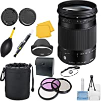 Sigma 18-300mm F3.5-6.3 DC Macro OS HSM ( C ) CT Lens Bundle for Canon EF Cameras
