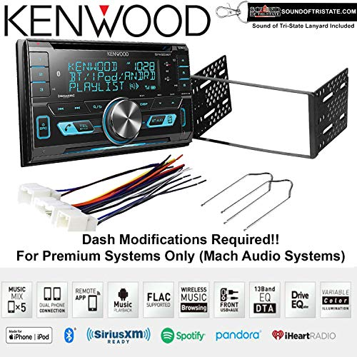 2002 Lanyard - Kenwood DPX503BT CD Receiver Bluetooth Fits 2001-2004 Escape, 2000-2004 Excursion, 1999-2004 F-150, 2001-2003 Mustang + Sound of Tri-State Lanyard Bundle