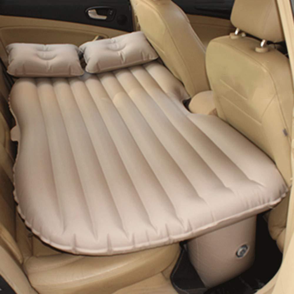 ERHANG Selbstaufblasbare Matratzen Auto Aufblasbares Bett General Motors Rear Seat Luftbett Erwachsene Outdoor Stoßfest Reisebett Luft Bett Auto Aufblasbare Reise Bett Auto Luftbett Infl,Beige