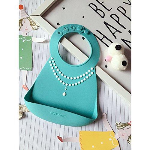 Silicone Disposable Bib Baby Bib children (Green) - 3