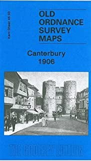 Old Ordnance Survey Maps Canterbury /& Ashford 1888 /&  Map of Wye Godfrey Edition