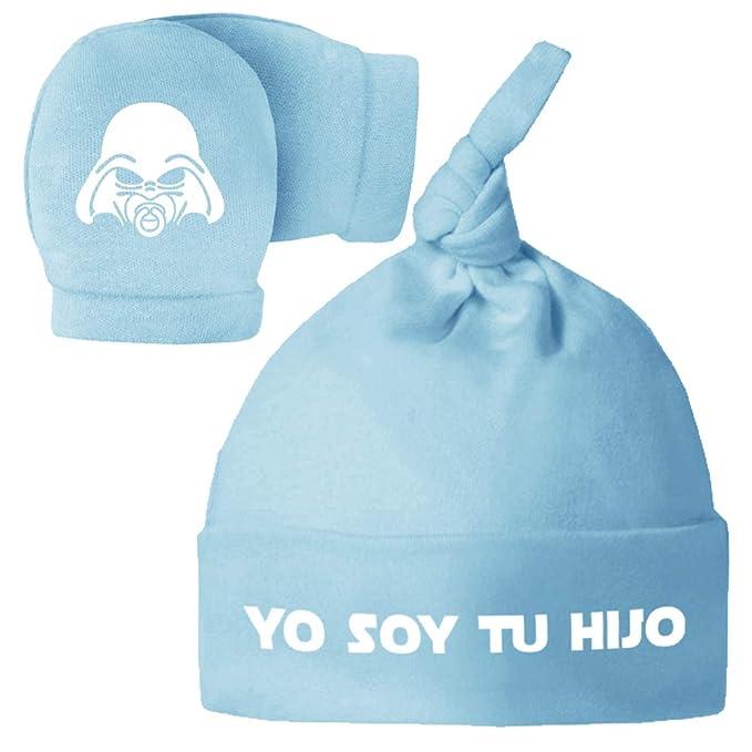 Pack Gorro y Manoplas recién Nacido. Yo Soy tu Hija, Yo Soy tu Hijo ...