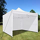 Yescom 1Pc 10x10 Ft EZ Pop Up Canopy Tent Side Wall Party Tent Shelter Sun Wall Sidewall Oxford White