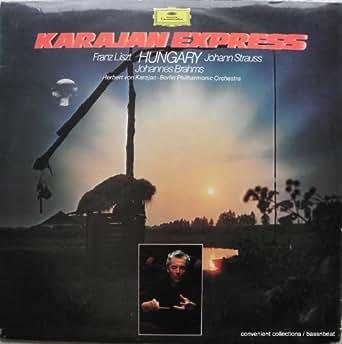 Karajan Express - Hungary; Liszt, Strauss, Brahms. VINYL 2 x LP. (DG 2725001). VG+/VG
