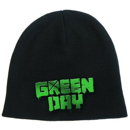 Green Day Beanie Hat: Logo - - Green Day Black Beanie