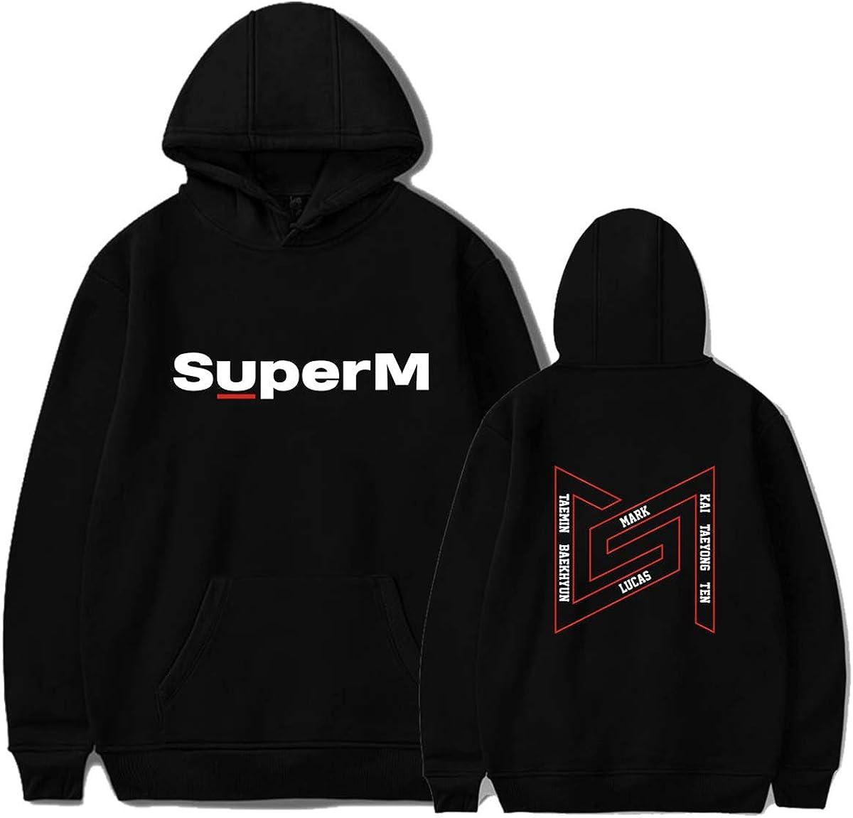 ATERAIN Kpop SuperM Hoodie Baekhyun Taeyong Mark Sweatshirt Ablum Pullover