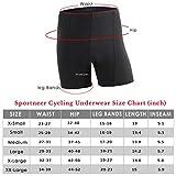 Sportneer Women's Padded Cycling Underwear, Bike