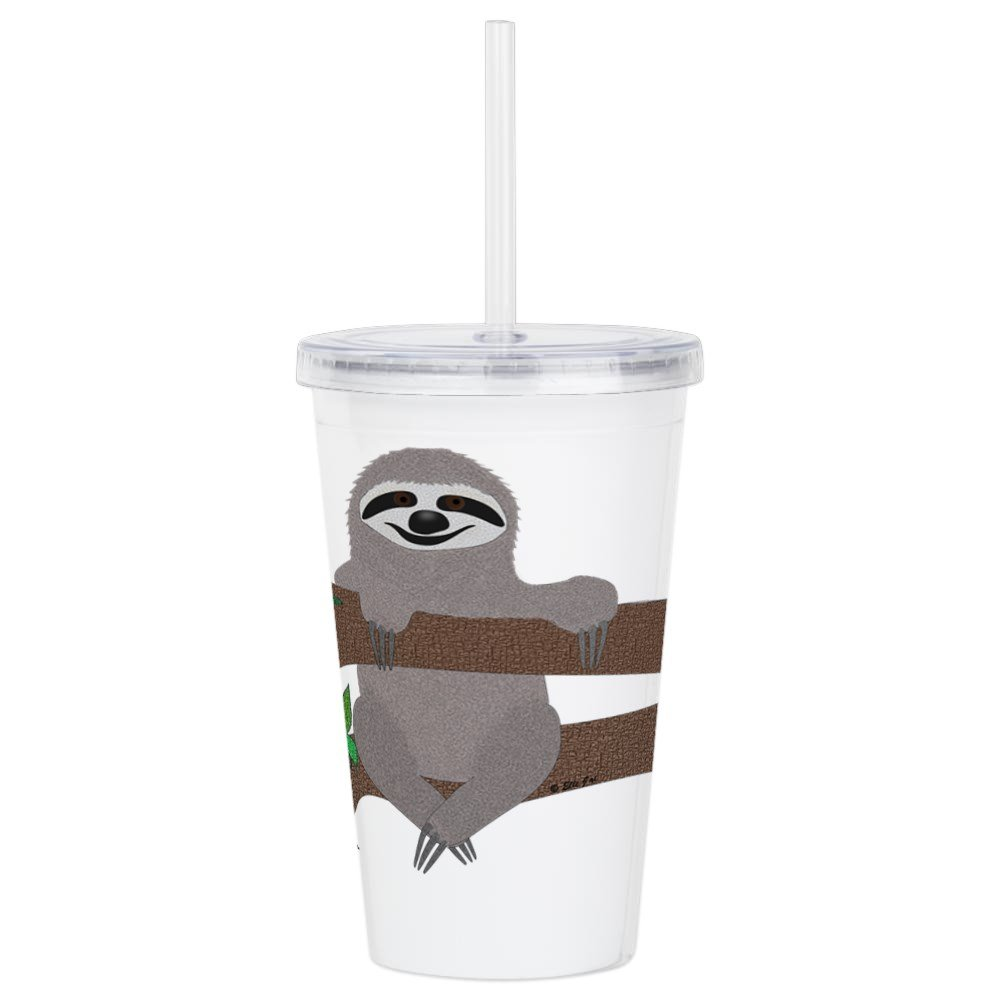 CafePress - Sloth - Insulated Straw Cup, 20oz Acrylic Double-Wall Tumbler