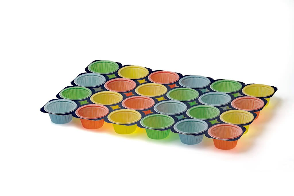 Baking Pan, 24 Cupcakes , Perfect for muffins, cupcake souffle, etc 24cups per Tray 2ozs , MT224ST Multi Colored, 50