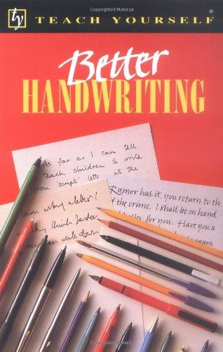 Better Handwriting (Teach Yourself Series)