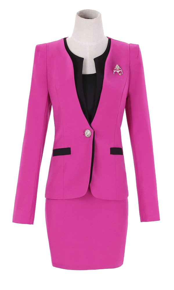 874e4cc2ac24 Kangqifen Women s Long Sleeve Business Offcie Suit Skirt Set larger image