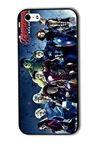 Tomhousomick Custom Design The Avengers Spider-Man Captain America The Hulk Thor Ant-Man Black Widow Iron Man Case Cover For iPhone 5 5S 2015 Hot Fashion Style