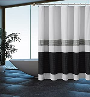 Curtains Ideas black sheer shower curtain : Amazon.com: Black and Sheer Double Layer Shower Curtain with ...