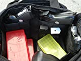 EXPLORER Deluxe Tactical Shooting Ammo Accessory Range Gear Padded Carry Bag 13 Pistol Hand Gun Case + Heavy Duty Shoulder Pad (Black R1 Range Bag)