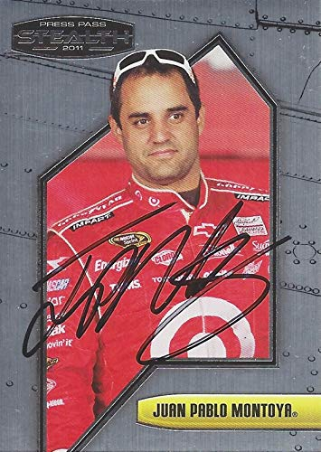 AUTOGRAPHED Juan Pablo Montoya 2011 Press Pass Stealth Racing (#42 Target Team) Ganassi Sprint Cup Series Chrome Signed NASCAR Collectible Trading Card with COA