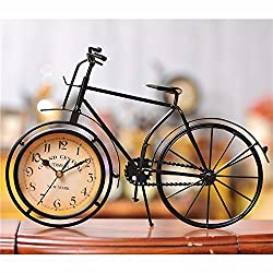 Berry President® Antique Crafts Retro Vintage Style Bicycle Desk & Shelf Clock Modern Home Office Decoration Tabletop Display Ornament