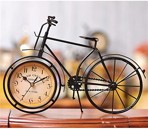 Vintage Bicycle Clock Rustic Desig Large Desk  Mantel Clock Decorations
