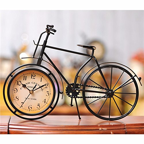 Birthday Decoration Ideas For Home (Berry President® Antique Crafts Retro Vintage Style Bicycle Desk & Shelf Clock Modern Home Office Decoration Tabletop Display Ornament)