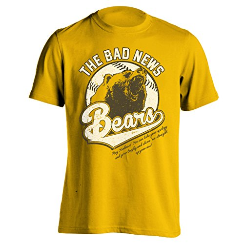The Bad News Bears Funny Classic Retro Baseball 80s 90s Humor Mens Shirt Large Gold