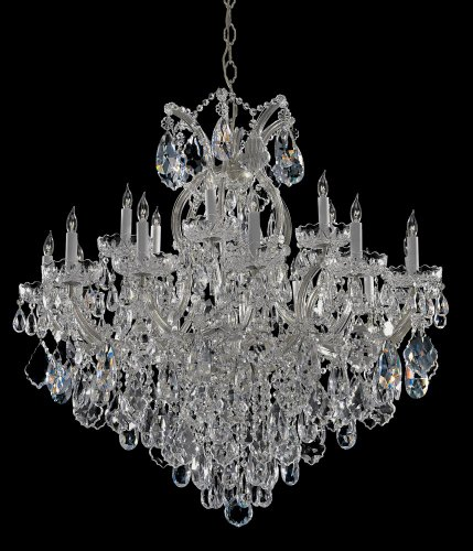 - Bohemian Crystal 19 Light Candle Chandelier Finish: Chrome, Crystal Type: Swarovski Spectra