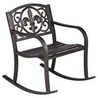 Deals on Mosaic Fleur-de-Lis Rocker