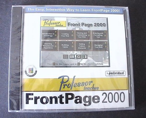 Professor Teaches Front Page CD ROM