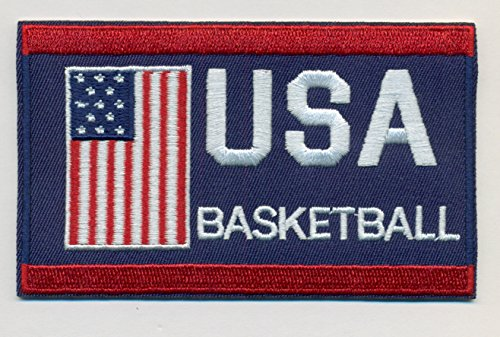 Basketball Team USA Embroidered Iron-On Patch Size 4
